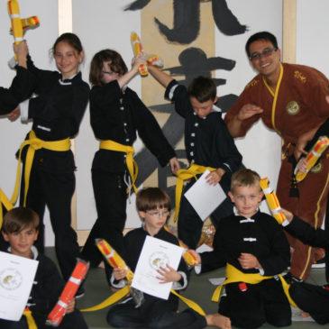 Kinder-Kung Fu-Prüfung im ZENit